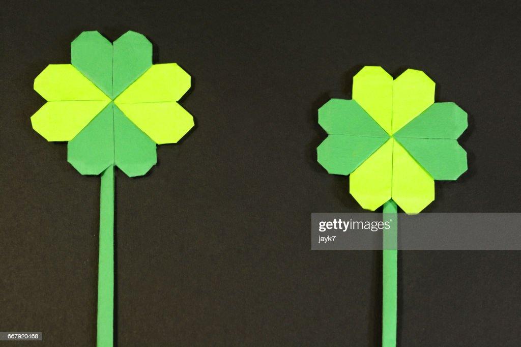 Origami Shamrock and four-leaf clover 🍀 ☘ [Tutorial] - Nham Van ... | 682x1024