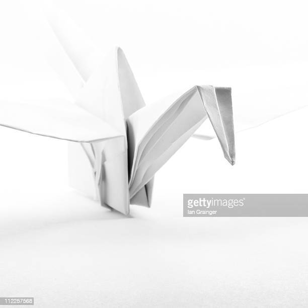 origami crane - ian grainger stock pictures, royalty-free photos & images