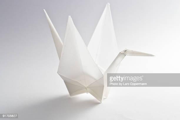 origami crane - origami foto e immagini stock