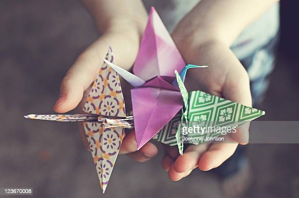 origami cranes - origami stock pictures, royalty-free photos & images