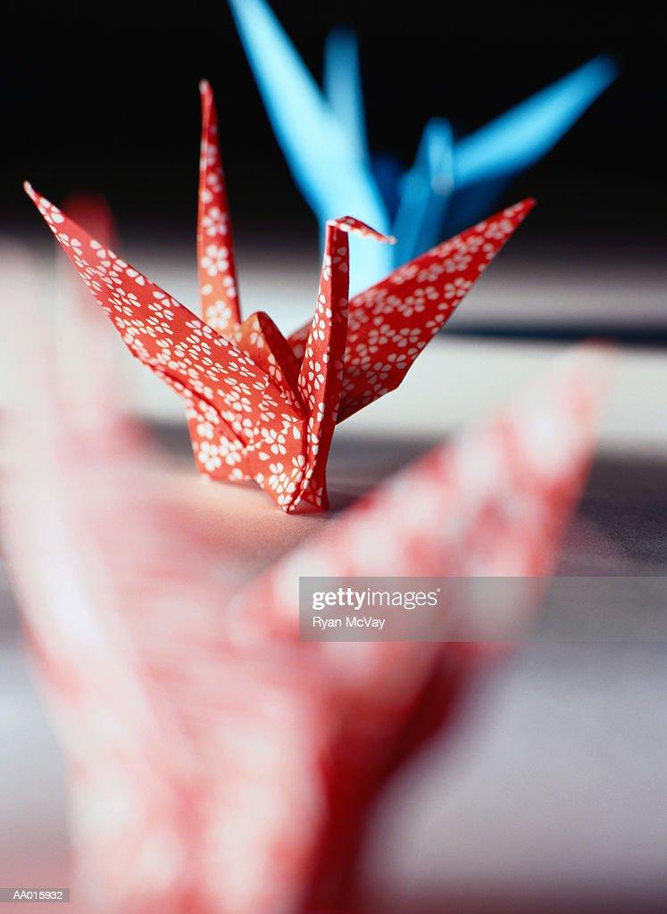 Origami Cranes : Stock Photo