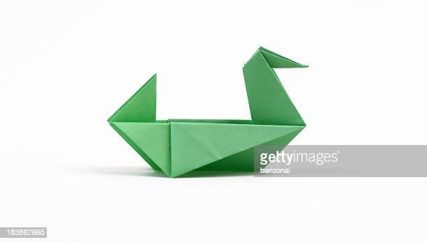 origami duck - duck bird stock photos and pictures