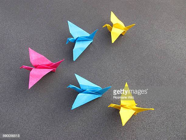Origami flapping birds