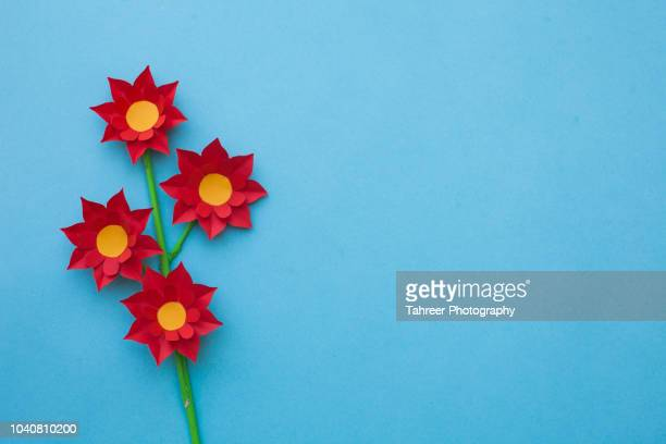 Origami Flower with copy space