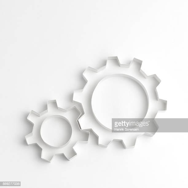 Origami gear wheels