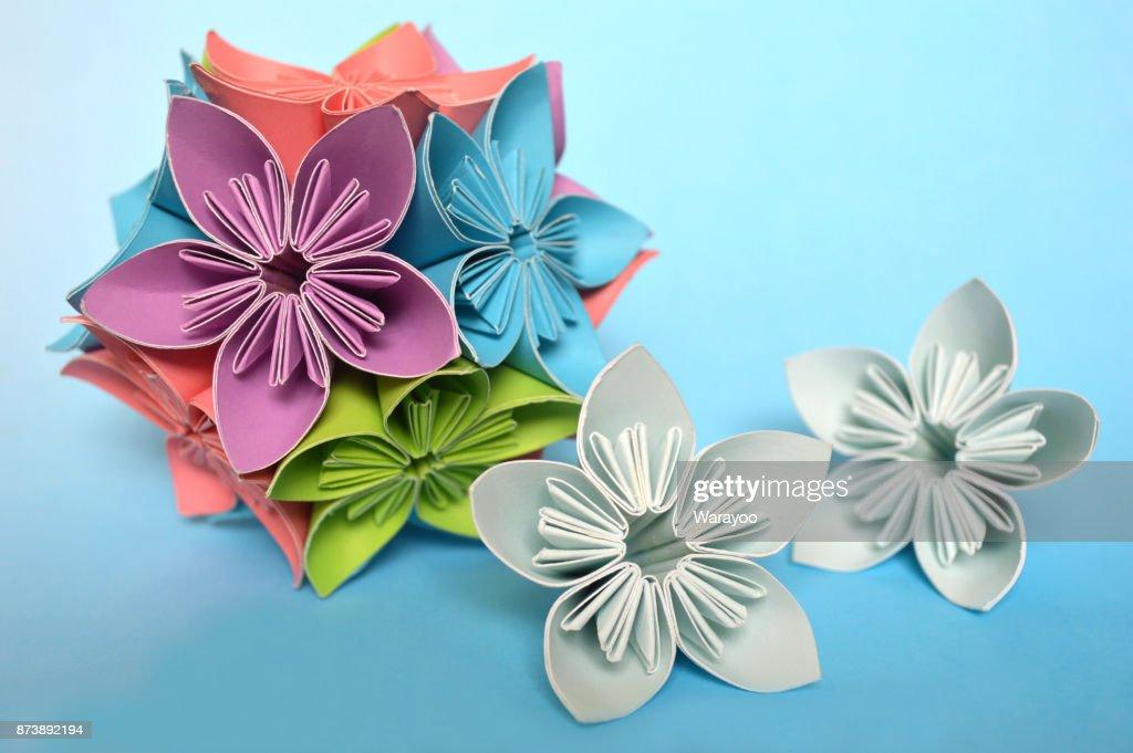 Origami Kusudama Flower Stock Photo Getty Images