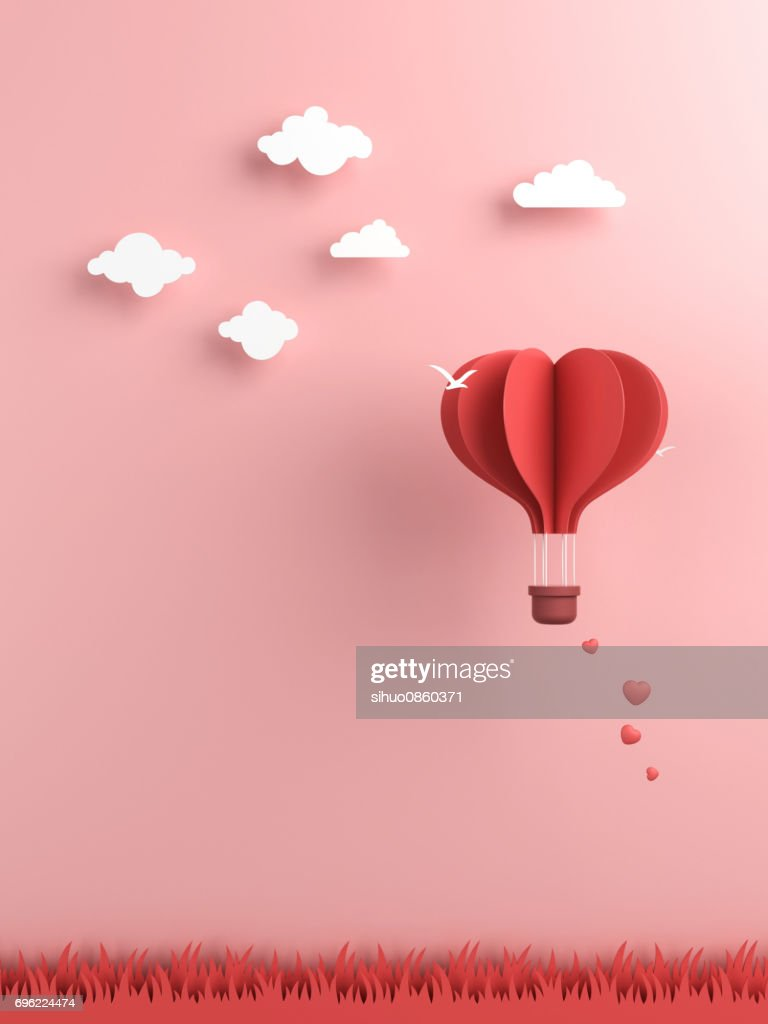 Origami made hot air balloon and cloud stock photo getty images origami made hot air balloon and cloud stock photo jeuxipadfo Choice Image