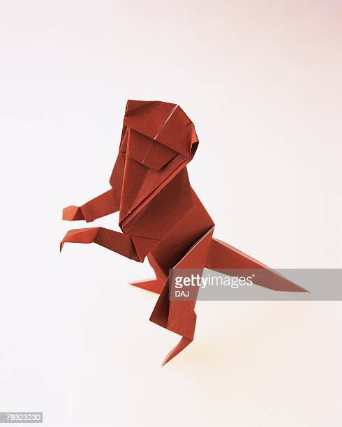 Origami Monkey, High Angle View