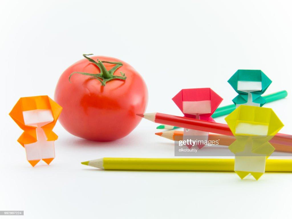 Paper TV] Origami Tomato 토마토 종이접기 折り紙 トマト como hacer ... | 768x1024
