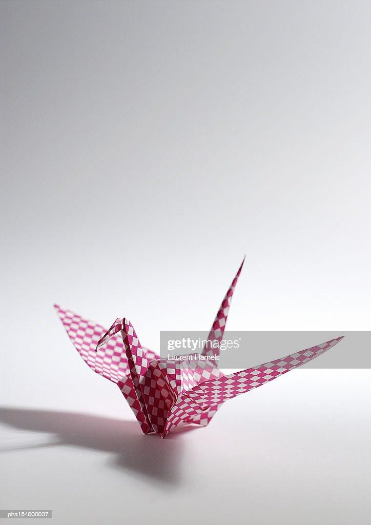 Origami paper bird. : Stockfoto