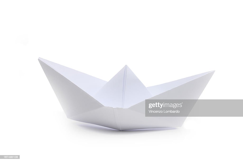 Origami Paper Boat Side View Stock Photo Getty Images