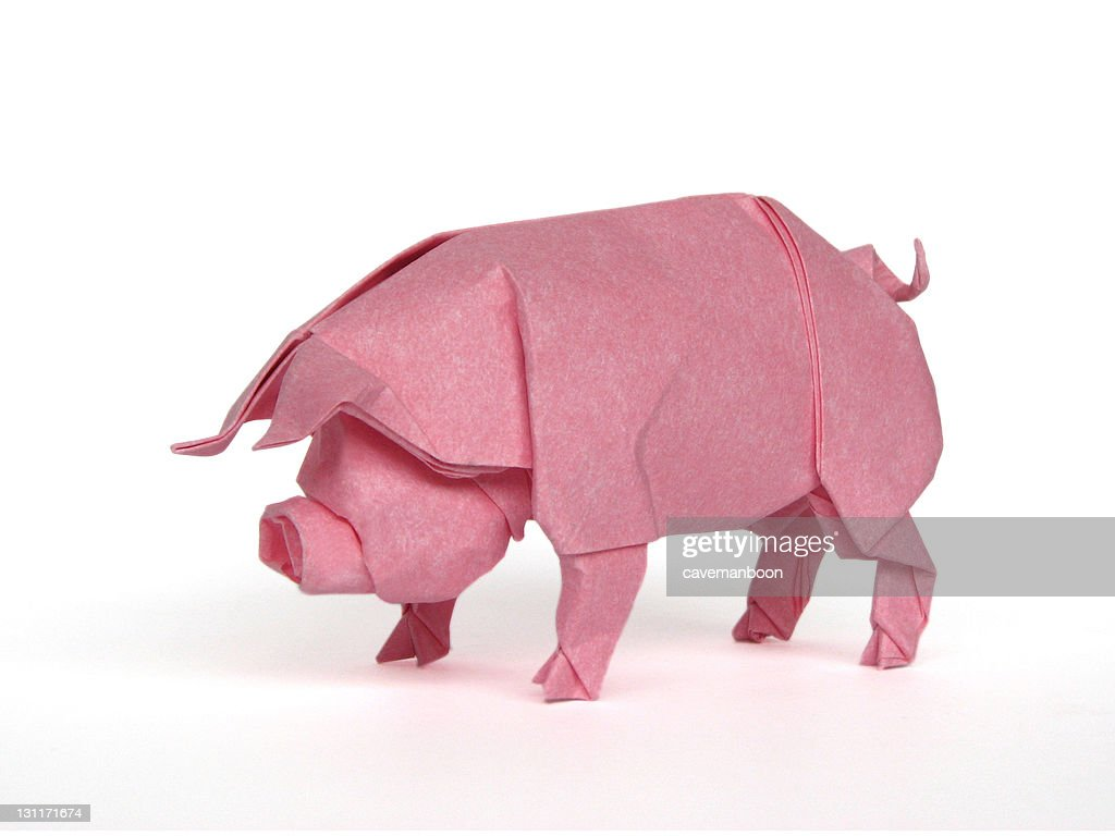 Origami pig stock photo getty images origami pig stock photo pooptronica