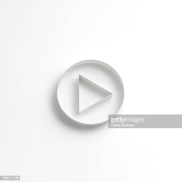 origami play button - play button stock photos and pictures