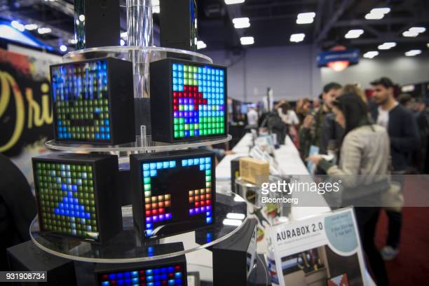 Origaudio Aurabox 20 bluetooth speakers are displayed at the South By Southwest conference in Austin Texas US on Tuesday March 13 2018 Amid the...