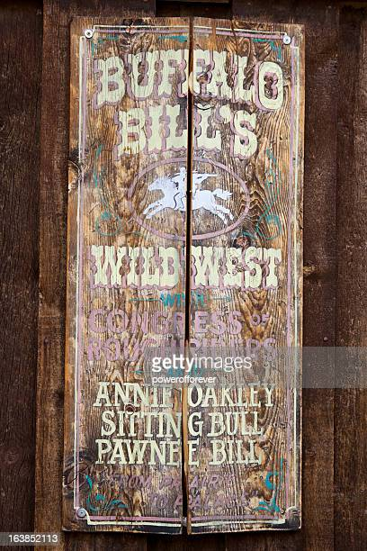 original 1893 buffalo bill's wild west show sign - 1893 stock photos and pictures