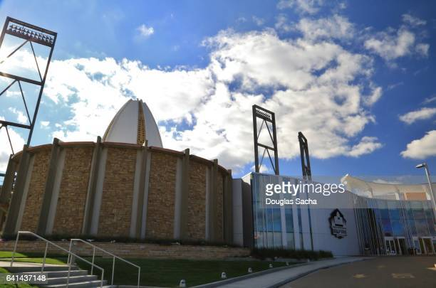 Original 1963 Building at the Pro Football Hall Of Fame, NFL , Canton, Ohio, USA