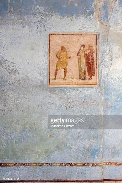 original ancient frescoes in pompeii - massimo pizzotti foto e immagini stock