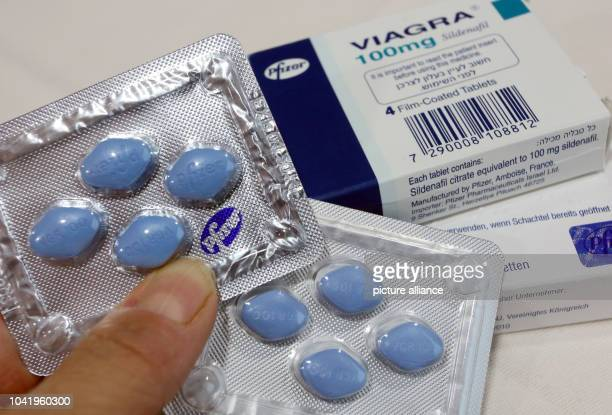 Original and fake viagra pills are presented at a press conference on counterfeit medicines which is part of the 2nd Counterfeit Medicine Information...