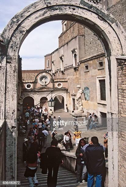 Original archangel Michael statue in Castel Sant'Angelo, Rome, Italy