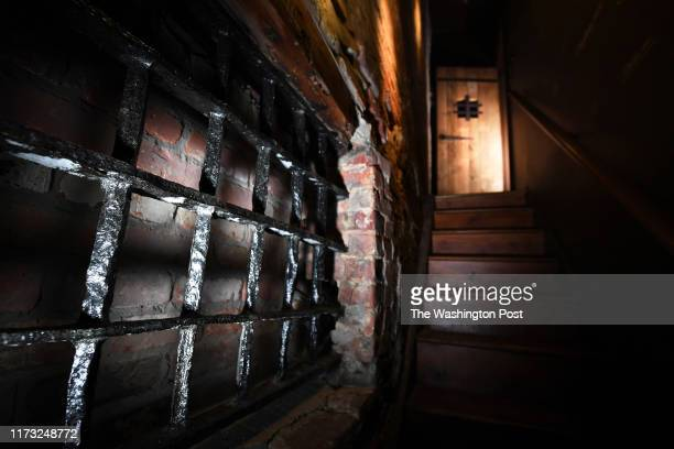 Original bars on a window are seen in the basement of the Freedom House Museum on Saturday February 23, 2019 in Alexandria, VA. The slave trade site...