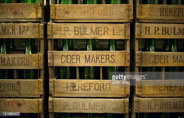 Original Bulmer's cider crates are shown at the Cider Museum in Hereford England on October 17 2011 Longderided as a fizzy staple of parkdwelling...