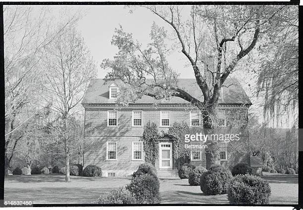 Berkeley plantation on the James River near Charles City Virginia ancestral home of the Harrison family including the 9th William Henry Harrison and...
