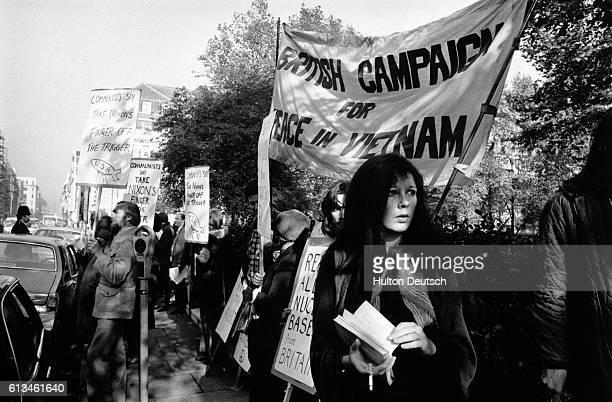 Original caption: CND Demo At Grosvenor Square.