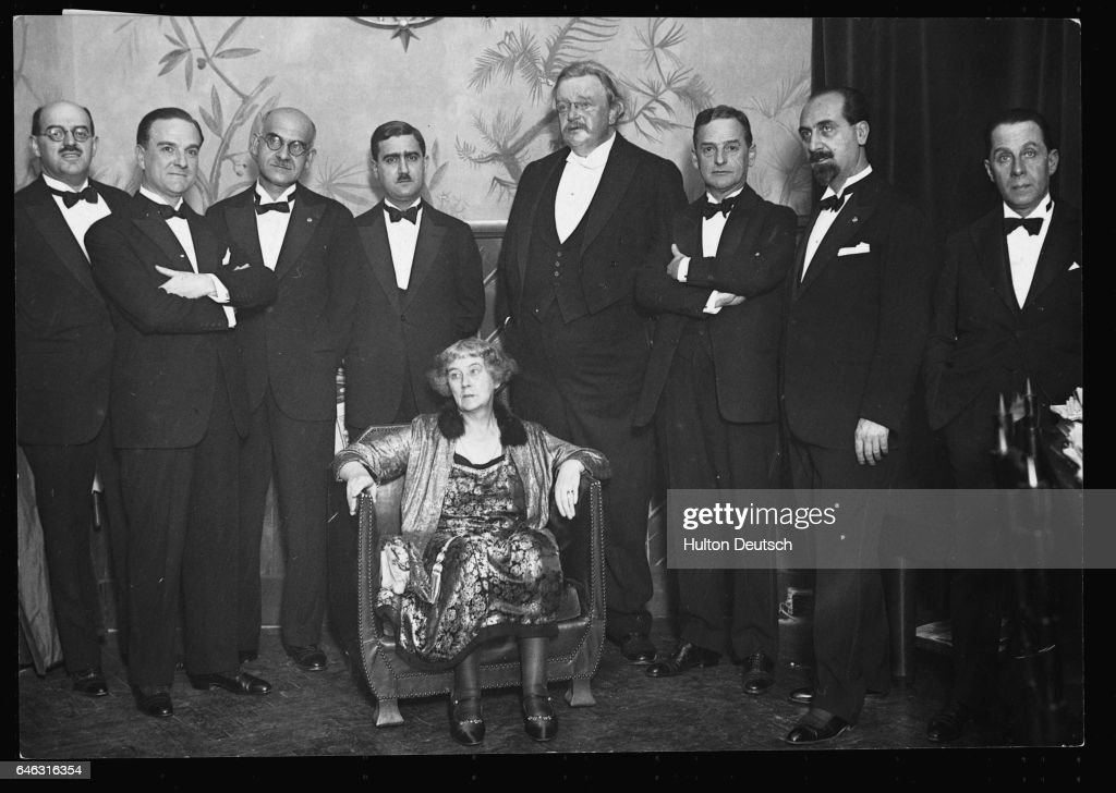 G.K. Chesterton and Frances Chesterton in Rome, ca. 1929 : News Photo