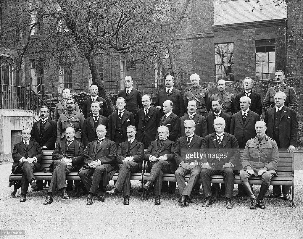 Imperial War Cabinet. Additional Hulton Text: (Front Row L To R) Mr
