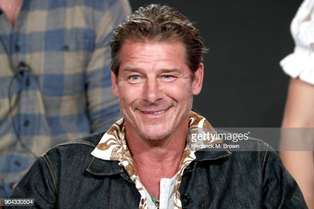 Original cast member Ty Pennington of 'Trading Spaces' on TLC speaks onstage during the Discovery Communications portion of the 2018 Winter...