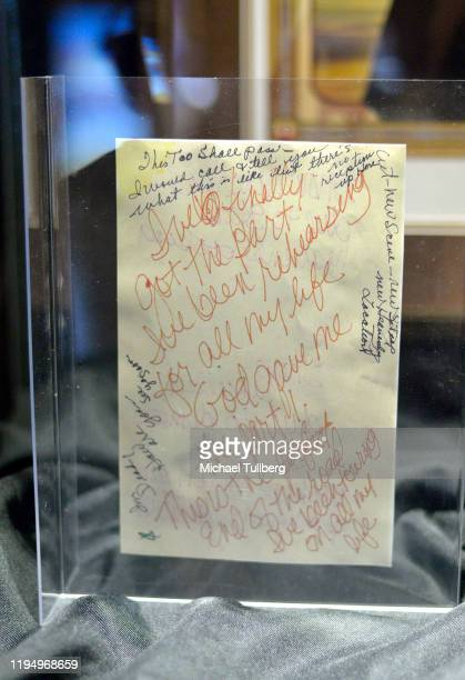 """Original correspondence written by actress Carrie Fisher at the Carrie Fisher pop-up museum """"The Todd Fisher Collection"""" at TCL Chinese Theatre on..."""