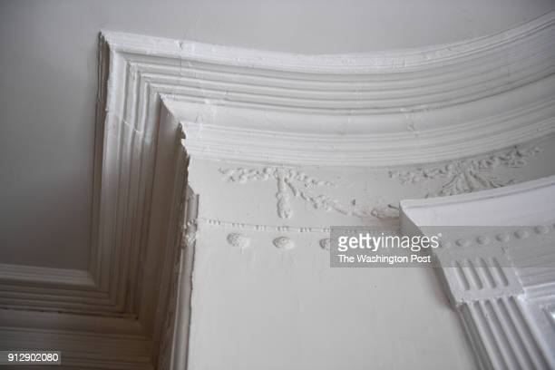 Original crown molding and design work are part of the charm of the renovated home of David Feinstein and Susan Pitman January 04 2018 in Washington...