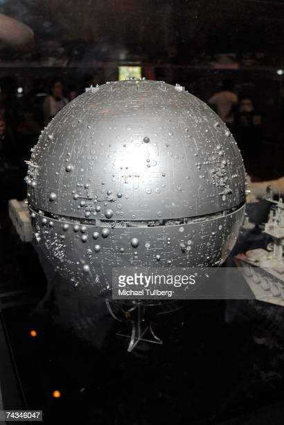 Original Death Star prototype model on display at the Star Wars Celebration IV convention held at the Los Angeles Convention Center on May 27 2007 in...