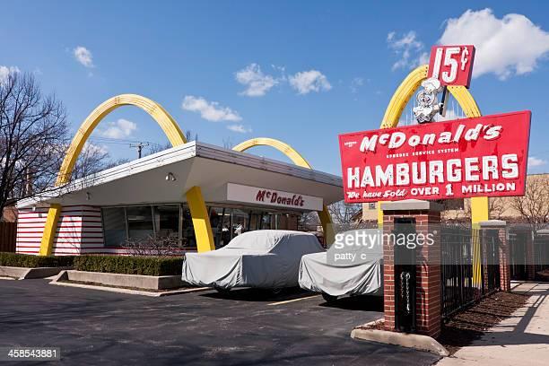 original mcdonald's franchise - mcdonald's stock pictures, royalty-free photos & images