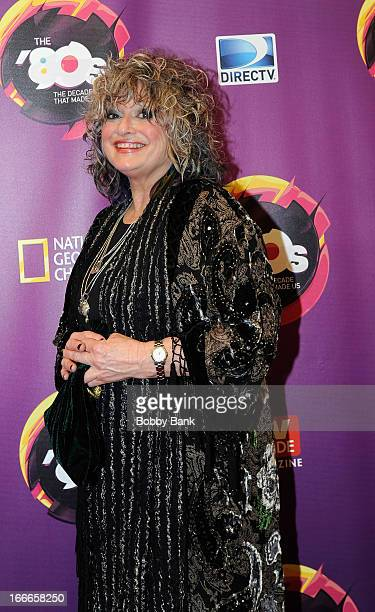 Original MTV VJ Nina Blackwood attends Nat Geo's The 80's The Decade That Made Us New York Premiere at Culture Club on April 9 2013 in New York City