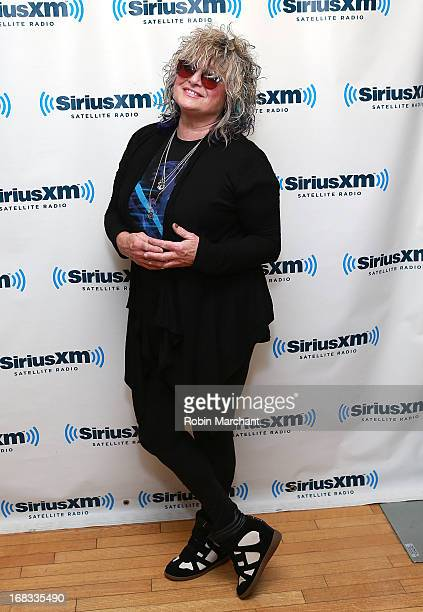 Original MTV VJ Nina Blackwood visits at SiriusXM Studios on May 8 2013 in New York City
