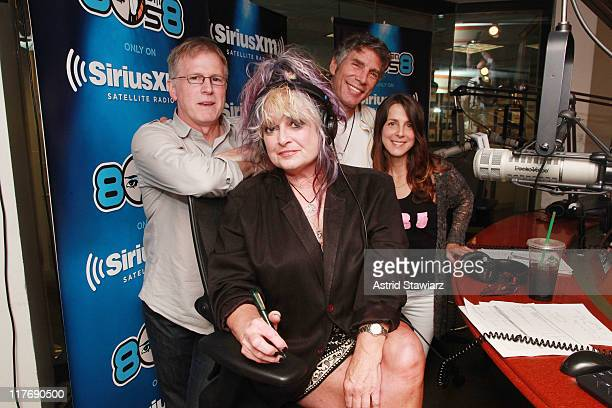 Original MTV VJs and current SiriusXM hosts Alan Hunter Nina Blackwood Mark Goodman and Martha Quinn record an MTV 30th Anniversary Special for...