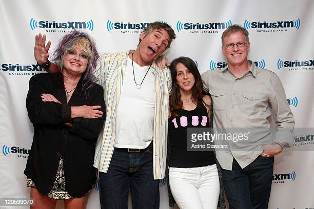 Original MTV VJs and current SiriusXM hosts Nina Blackwood Mark Goodman Martha Quinn and Alan Hunter record an MTV 30th Anniversary Special for...