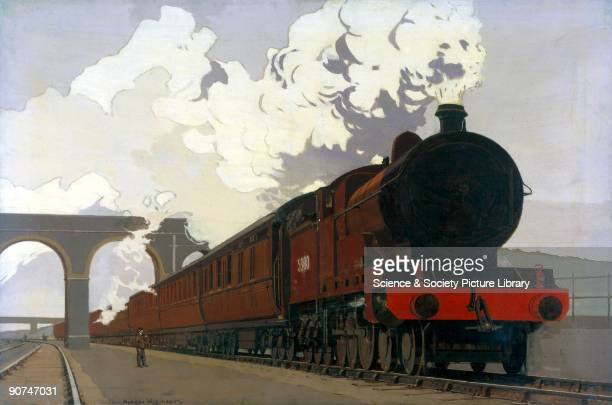Original oil painting by Norman Wilkinson for a London Midland Scottish railway poster Wilkinson studied art at Portsmouth and Southsea Schools of...