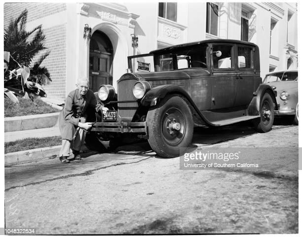 Original owner of 1927 Packard, 22 January 1953. Matthew Anthony Wilson -- 78 years .;Caption slip reads: 'Photographer: Lou Mack. Date: . Reporter:...