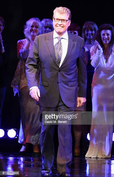 Original Phantom Michael Crawford bows onstage at The Phantom Of The Opera 30th anniversary charity gala performance in aid of The Music in Secondary...