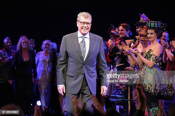 Original Phantom Michael Crawford bows onstage at 'The Phantom Of The Opera' 30th anniversary charity gala performance in aid of The Music in...