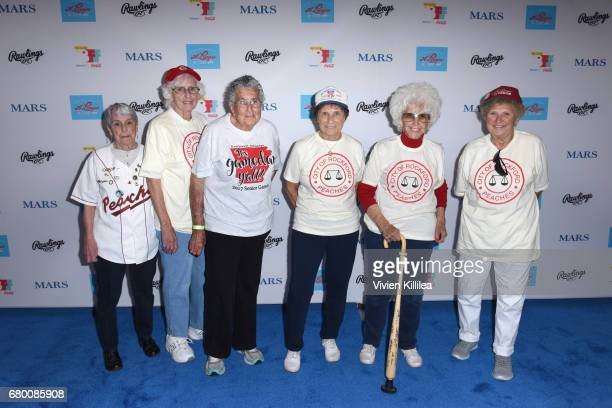 Original players in the All American Girls Professional Baseball League Gina Chirpie Casey Shirley Burkovich Betty Christian Suzanne Parsons Maybelle...