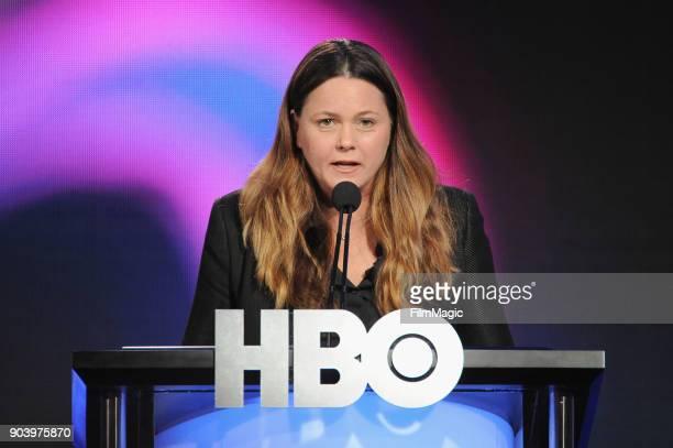 Original Programming HBO EVP Drama Programming Francesca Orsi speaks on stage at HBO Winter TCA 2018 on January 11 2018 in Pasadena California