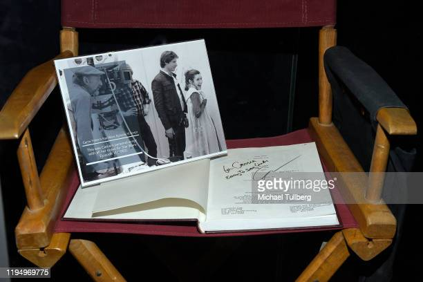 """Original """"Return Of The Jedi"""" shooting script belonging to actress Carrie Fisher at the Carrie Fisher pop-up museum """"The Todd Fisher Collection"""" at..."""