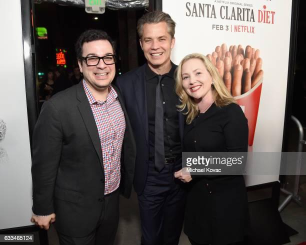 Original Series Netflix Andy Weil Actor Timothy Olyphant and Original Series Netflix Jane Wiseman attend the 'Santa Clarita Diet' Premiere on...