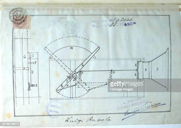 Original sketch of one of the intonarumori 1914 Found in the collection of Museo di arte moderna e contemporanea di Trento e Rovereto