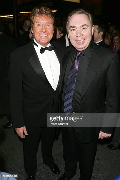 Original star Michael Crawford and composer Andrew Lloyd Webber attend the Special Gala for the 7486th performance of Phantom Of The Opera at the...