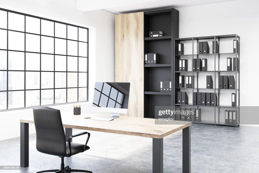 Ursprungliche Tabelle Ceo Buro Innenecke Stock Foto Getty Images