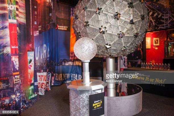 Original Times Square New Year's Eve Centennial Ball is on display during the unveiling of new interactive exhibit featuring Original 2007 Times...